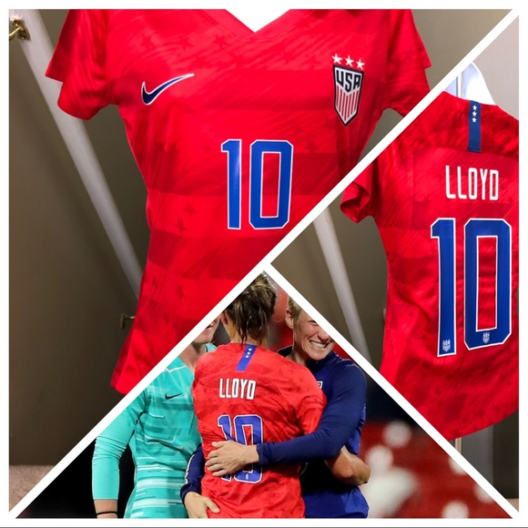 sports shoes 9e637 21594 Carli Lloyd #10 USA Womens Soccer Jersey World Cup NWT